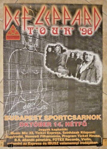 Def Leppard 26.5 x 38.5 1996 Slang Tour Poster 100% Real RARE Budapest