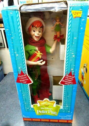 "Vintage RARE Telco 16"" Disney Classics Peter Pan Singing w/Stand & Box-WORKS"