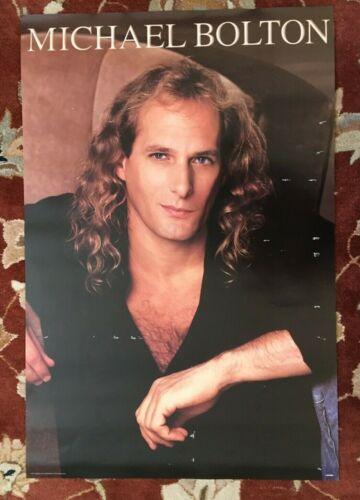 MICHAEL BOLTON  On Columbia Records  rare original promotional poster