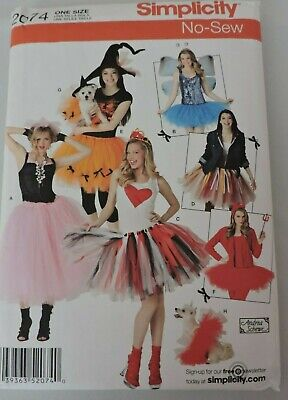 Family Crafts Halloween Costumes (Simplicity Family Halloween Costumes No Sew Sewing Pattern Small Dog Tutus)