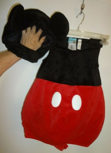 Disney Store Plush Padded Mickey Mouse Costume Toddler Baby sz 2T Squeaker Ears
