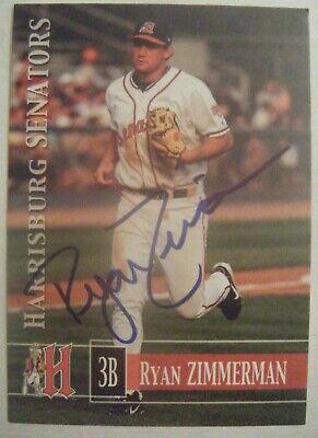 RYAN ZIMMERMAN signed RARE 2006 HARRISBURG SENATORS baseball card AUTO NATIONALS ()