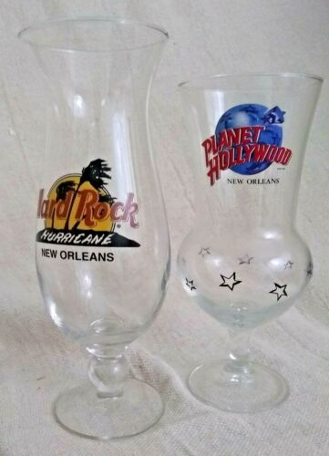"Planet Hollywood & Hard Rock Hurricane""NEW ORLEANS"" Glasses"