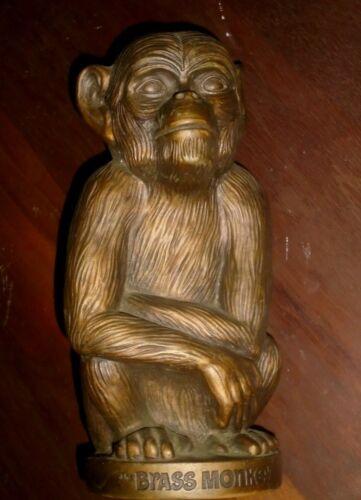 "Plastic Heublein Vintage The Brass Monkey 11"" Coin Bank"