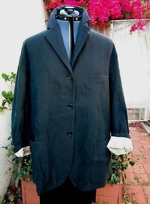 Romeo Gigli VTG Italy navyish jacket Iconic oversized roll-up slvs