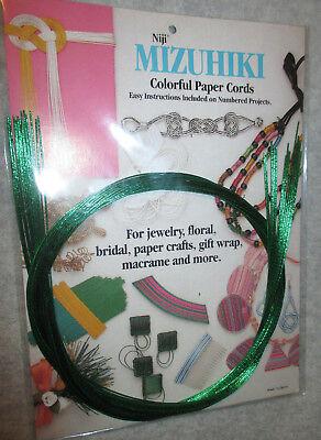 - 508 MIZUHIKI GREEN PAPER CORD - 36