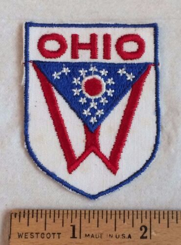 Vintage OHIO OH State Flag Embroidered Souvenir Patch Badge