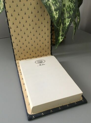Vintage Laura Ashley Office Desk Fabric Covered Notepad