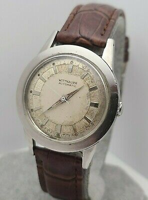 Vintage Longines Wittnauer 11ARG men's automatic watch Cal 1384N 17jewels 1950s
