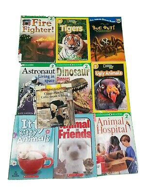 Lot of 10 Beginning Reader DK Nat Geo Science Kids Books Level 2 AR Reading L32