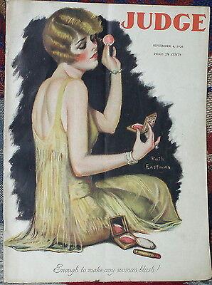 vintage issue of JUDGE magazine - Sept. 1926-good condition