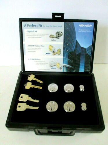 Medeco Keymark & Arrow Cylinders W/ Cylinder Cores & Keys Control Access Display
