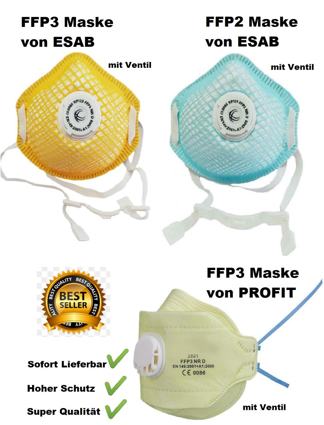 ►►FFP3 FFP2 Atemschutzmaske mit Ventil♦Mundschutz♦Feinstaubmaske♦Maske♦NEU◄◄