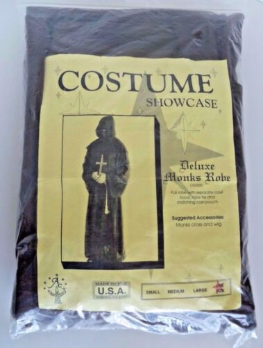 Monk Habit Brown Robe w Cross Adult Deluxe Halloween One Size Costume. USA