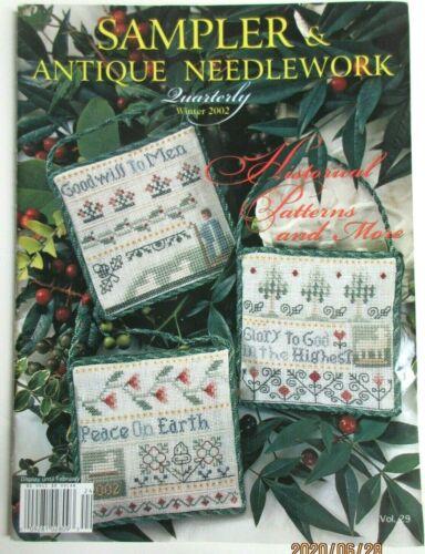 Sampler and Antique Needlework Quarterly Volume 29 Winter 2002