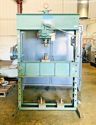 Dake 75 Ton H-frame Hydraulic Pressontario Calif.