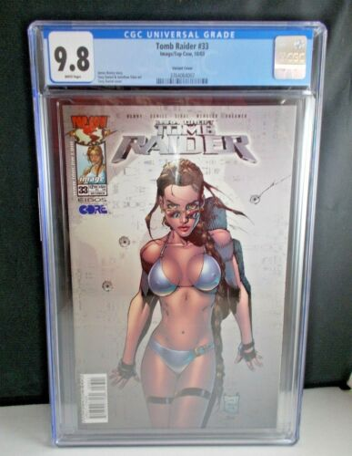 Tomb Raider #33 2003 [CGC Graded 9.8] Tony Daniel Swimwuit Variant Cover