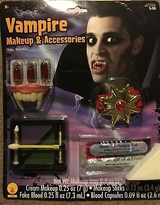 New In Package Vampire Costume Makeup and Accessories - Free Shipping! - Vampire Accessories
