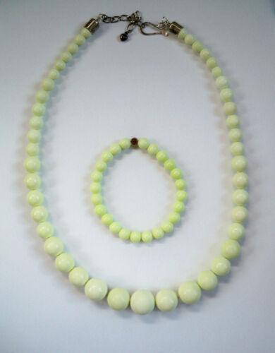 Jay King Mine Finds DTR Necklace & Bracelet Lemon Chrysoprase graduated RARE