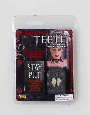 Vampiress Vampire Dracula Fake Teeth Fangs Halloween Costume Accessory - Costume Fake Teeth