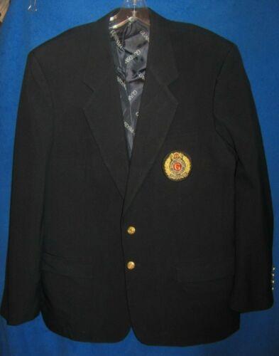 Guardsmark Security Blazer Blue uniform jacket sz 46 sewn patch UTY Apparel