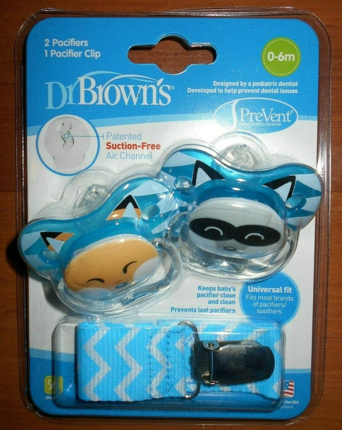 Dr. Brown's BPA Free 0-6 mo Sz 1 2 Pack Prevent Orthodont -