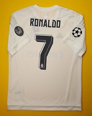 9f7456617cb promo code for 5 5 ronaldo real madrid jersey large 2015 2016 home shirt  ak2496 soccer