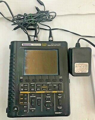 Tektronix Ths720p Digital Oscilloscope With Two Probes. Dim Screen.