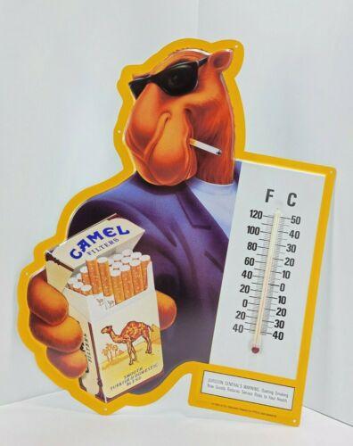 NOS Camel Joe Metal Sign Tobacco Advertising Cigarettes Thermometer Vintage 1992