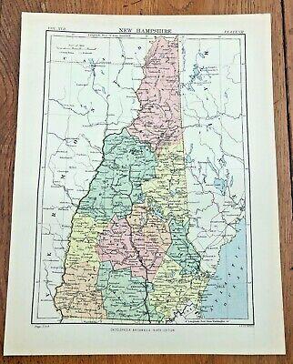 circa 1880s map of new hampshire !  ( adam & charles black )