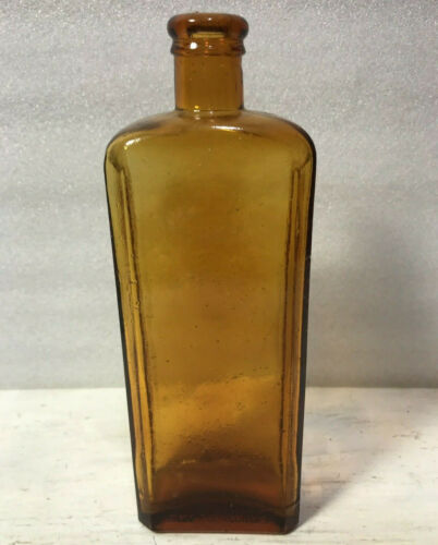 Kickapoo Indian Medicine Co Sagwa Bottle Amber - Crownford Reproduction