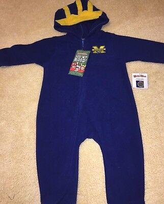 Wolverine Infant Costume (Michigan Wolverines Infant Sleeper costume Full zip toddler MASCOST)