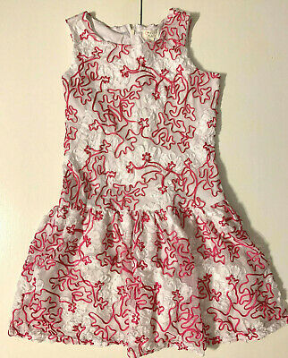 The Childrens Place Girls Sleeveless Lace Floral Dress Size 14 Kids Girls Sleeveless