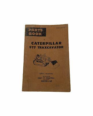 Vintage Parts Book Caterpillar 977 Traxcavator Manual 53a1-53a1906 43d231-up
