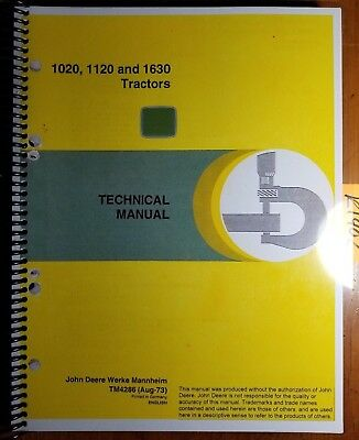 John Deere 1020 1120 1630 Tractor Technical Service Repair Manual Tm4286 873