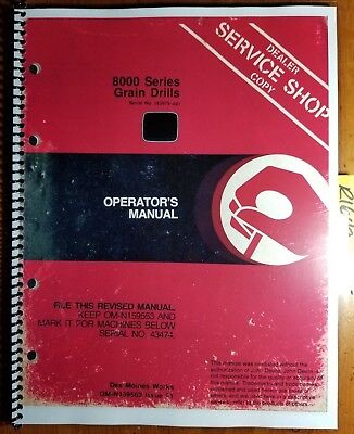 John Deere 8000 Series Grain Drill Sn 43475-52967 Owners Operators Manual 81