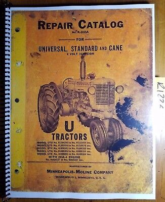 Minneapolis-moline U Utu Uts Utc Utn Ute Tractor Repair Parts Manual R-1115a 53