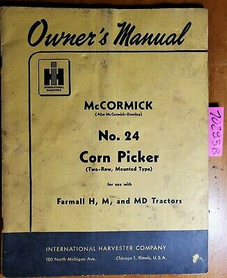 Mccormick Deering M   Owner's Guide to Business and