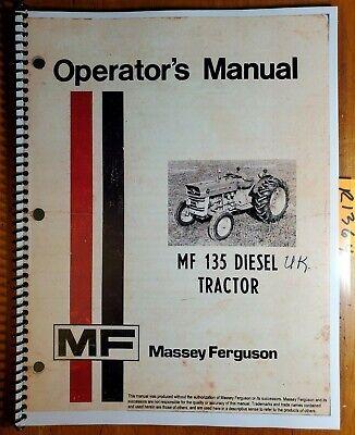 Massey Ferguson Mf 135 Canada Diesel Tractor Owner Operator Manual 1448136m2 72