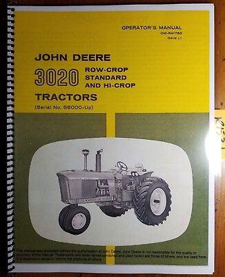 John Deere 3020 Tractor Sn 68000-150000 Owners Operators Manual Om-r41753 L7
