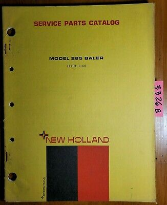 New Holland 285 Baler Service Parts Catalog Manual 285-5m 168