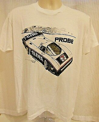 Vtg  1986 7 Eleven Probe Racing T Shirt  Motorcraft  Size M