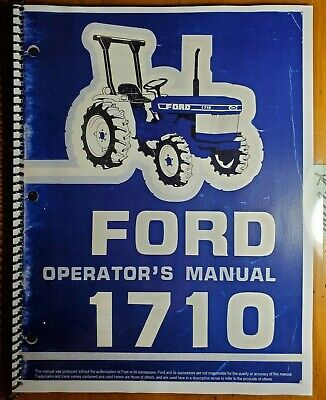 Ford 1710 Tractor 1983-87 Owners Operators Manual Se4068b 42171010 487