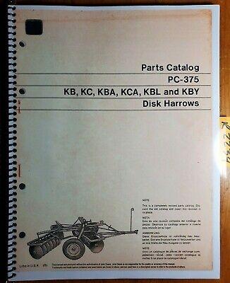 John Deere Kb Kc Kba Kca Kbl Kby Disc Harrow Parts Catalog Manual Pc-375 870