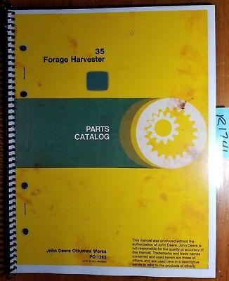 John Deere 35 Forage Harvester Parts Catalog Manual Pc-1263 883