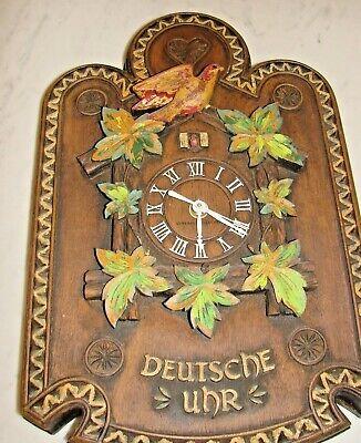 "Vintage General Electric Faux Cuckoo German Clock ""Deutsche Uhr"""
