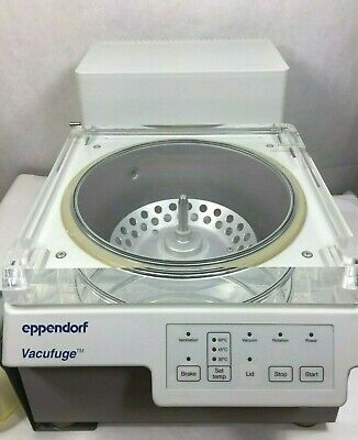 Eppendorf 5301 Vacufuge Concentrator Centrifuge W Vacuum Pump F45-48-11 Rotor