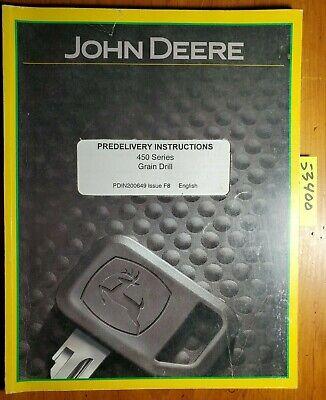 John Deere 450 Series Plain Fertilizer Grain Drill Predelivery Inst Manual 98