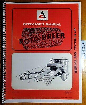 Allis-chalmers Roto-baler Sn 75702- Owners Operators Manual 577437 173