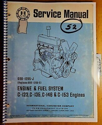 Ih International C-123 C-135 C-146 C-153 Engine Fuel System Service Manual 77